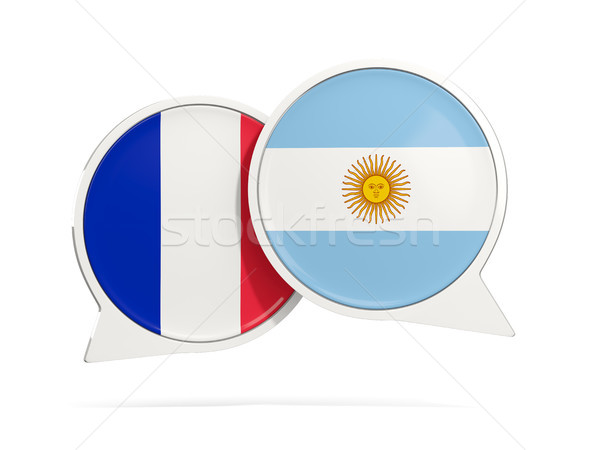 Chat bubbles of France and Argentina isolated on white Stock photo © MikhailMishchenko