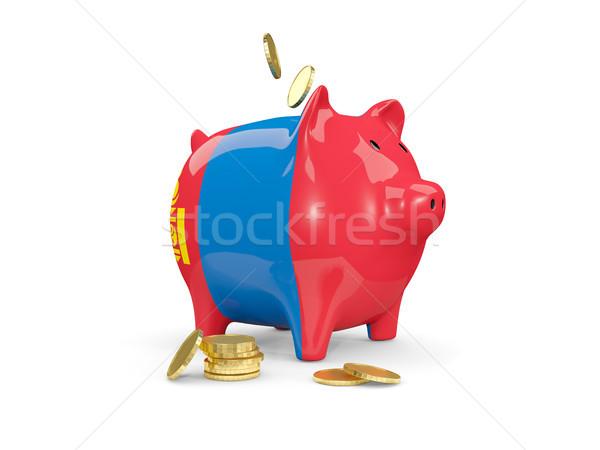 Vet spaarvarken Mongolië geld geïsoleerd witte Stockfoto © MikhailMishchenko