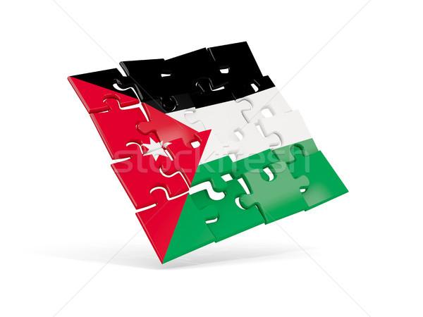 Puzzle flag of jordan isolated on white Stock photo © MikhailMishchenko