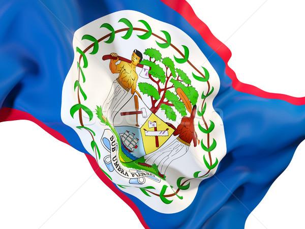 Integet zászló Belize közelkép 3d illusztráció utazás Stock fotó © MikhailMishchenko