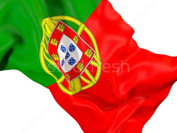 Waving flag of portugal Stock photo © MikhailMishchenko