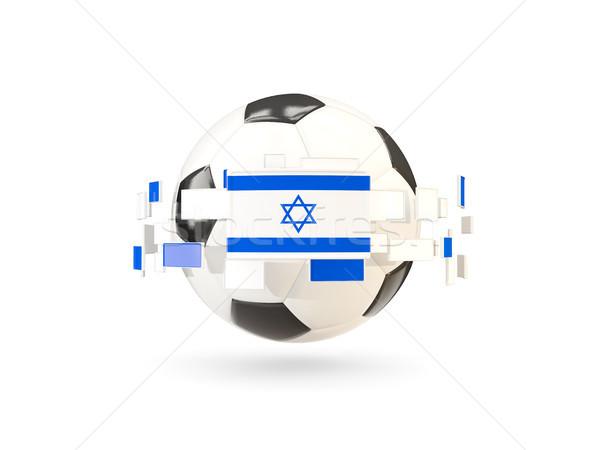 Futballabda vonal zászlók zászló Izrael lebeg Stock fotó © MikhailMishchenko