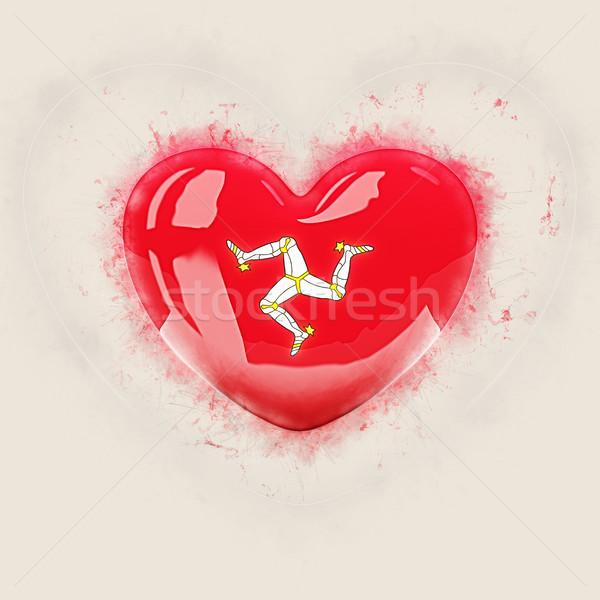 Heart with flag of isle of man Stock photo © MikhailMishchenko