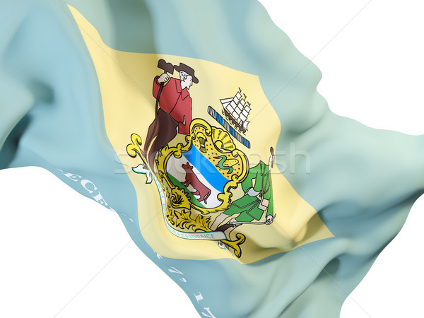 Delaware bandeira Estados Unidos local bandeiras Foto stock © MikhailMishchenko