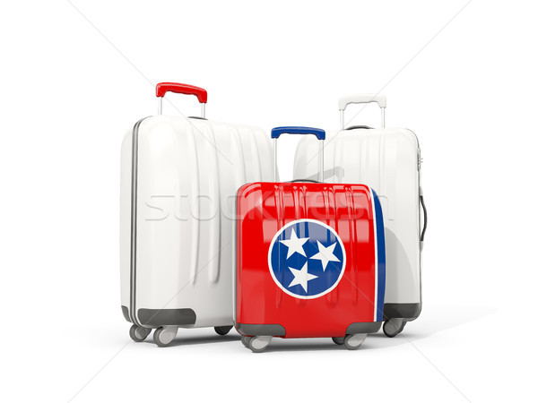 Luggage with flag of tennessee. Three bags with united states lo Stock photo © MikhailMishchenko