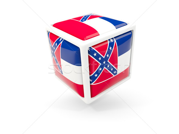 Mississippi zászló kocka ikon Egyesült Államok helyi Stock fotó © MikhailMishchenko
