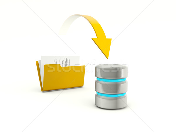 Copying files from folder to database Stock photo © MikhailMishchenko