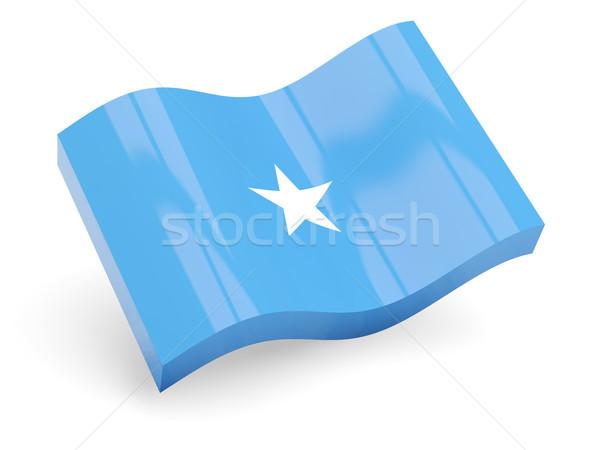 Zdjęcia stock: 3D · banderą · Somali · odizolowany · biały · podróży