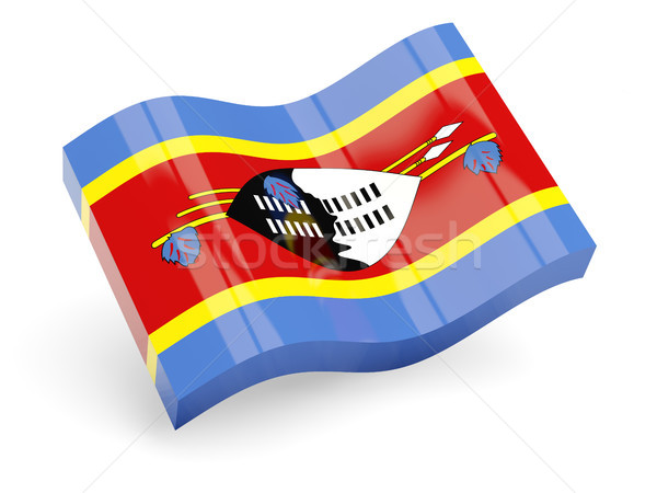 3d flag of swaziland Stock photo © MikhailMishchenko