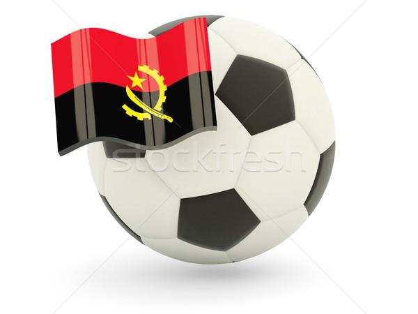 футбола флаг Ангола изолированный белый спорт Сток-фото © MikhailMishchenko