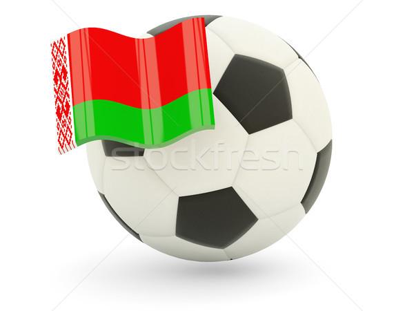 Futbol bayrak Belarus yalıtılmış beyaz spor Stok fotoğraf © MikhailMishchenko