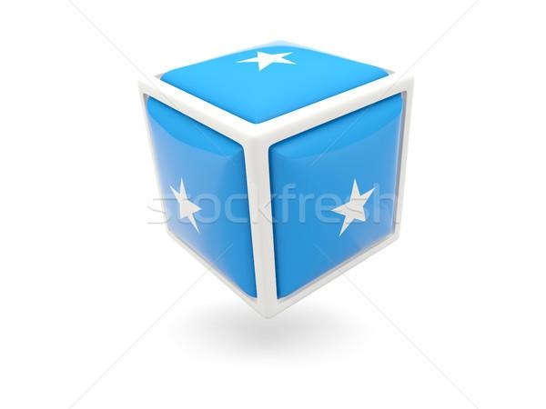 Vlag Somalië kubus icon geïsoleerd witte Stockfoto © MikhailMishchenko