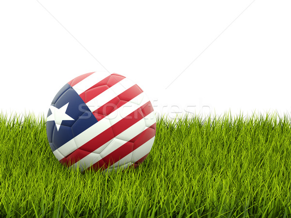 Football with flag of liberia Stock photo © MikhailMishchenko