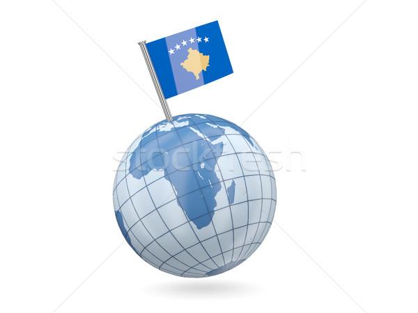 Globe with flag of kosovo Stock photo © MikhailMishchenko