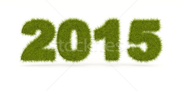 Verde 2015 capodanno segno isolato bianco Foto d'archivio © MikhailMishchenko