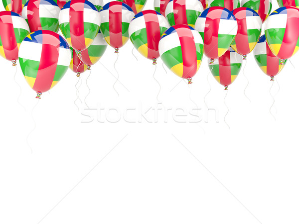 Balloon frame with flag of central african republic Stock photo © MikhailMishchenko