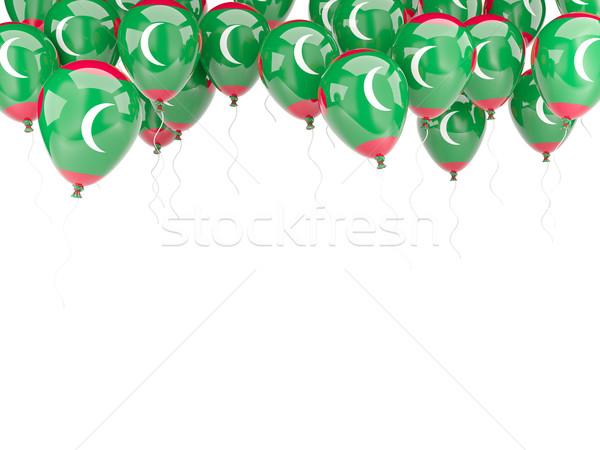 шаре кадр флаг Мальдивы изолированный белый Сток-фото © MikhailMishchenko