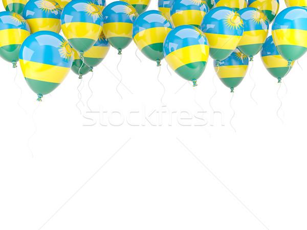 Ballon cadre pavillon Rwanda isolé blanche Photo stock © MikhailMishchenko