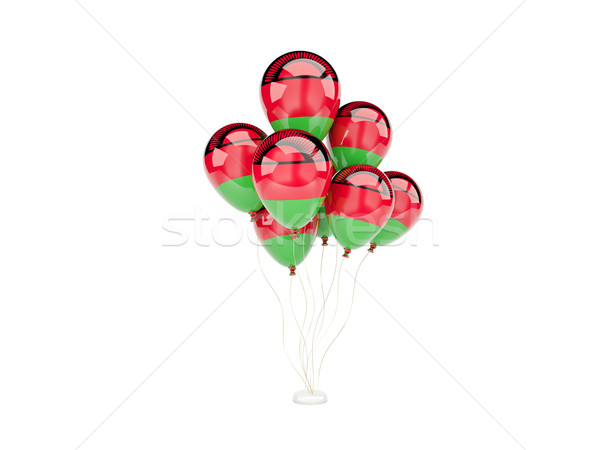 Flying balloons with flag of malawi Stock photo © MikhailMishchenko