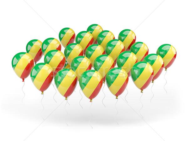 Balony banderą republika Congo odizolowany biały Zdjęcia stock © MikhailMishchenko