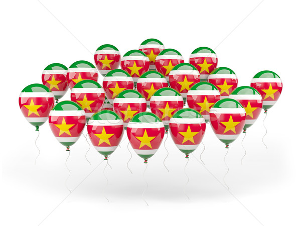 шаров флаг Суринам изолированный белый стране Сток-фото © MikhailMishchenko