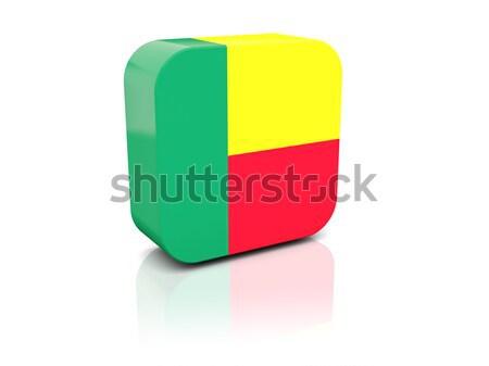 Square icon with flag of mali Stock photo © MikhailMishchenko