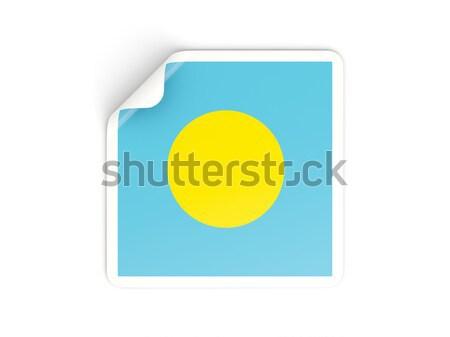 広場 アイコン フラグ パラオ 反射 白 ストックフォト © MikhailMishchenko