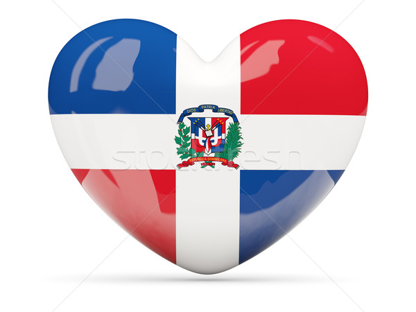 Heart shaped icon with flag of dominican republic Stock photo © MikhailMishchenko