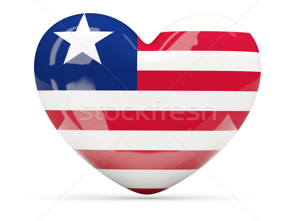 Coração ícone bandeira Libéria isolado Foto stock © MikhailMishchenko
