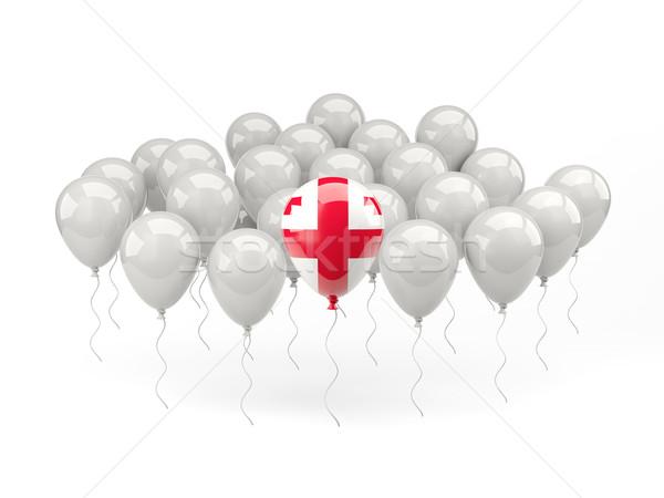 Hava balonlar bayrak Georgia yalıtılmış beyaz Stok fotoğraf © MikhailMishchenko