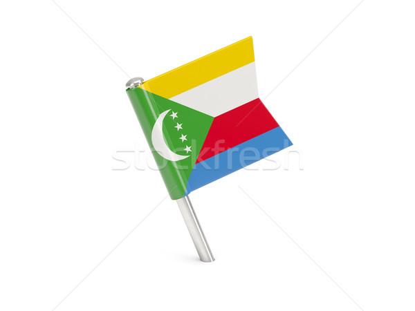 Flag pin of comoros Stock photo © MikhailMishchenko