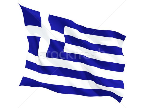 Bandiera Grecia isolato bianco Foto d'archivio © MikhailMishchenko