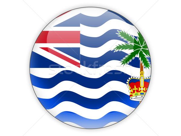 Round icon with flag of british indian ocean territory Stock photo © MikhailMishchenko
