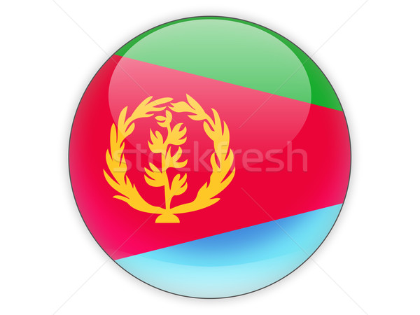 Ikona banderą Erytrea odizolowany biały podróży Zdjęcia stock © MikhailMishchenko