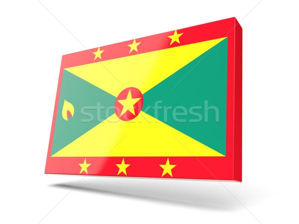Tér ikon zászló Grenada izolált fehér Stock fotó © MikhailMishchenko