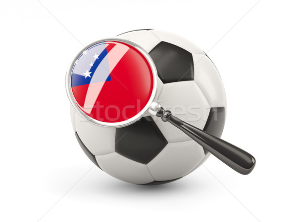 Futebol bandeira Samoa isolado branco Foto stock © MikhailMishchenko