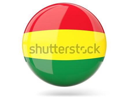 Ikon zászló Bolívia fényes felirat fehér Stock fotó © MikhailMishchenko
