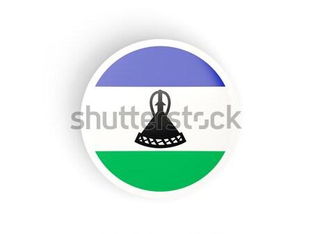 икона флаг Лесото знак белый Сток-фото © MikhailMishchenko