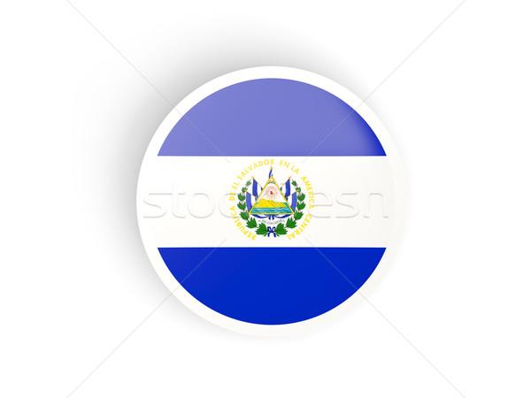 Round sticker with flag of el salvador Stock photo © MikhailMishchenko