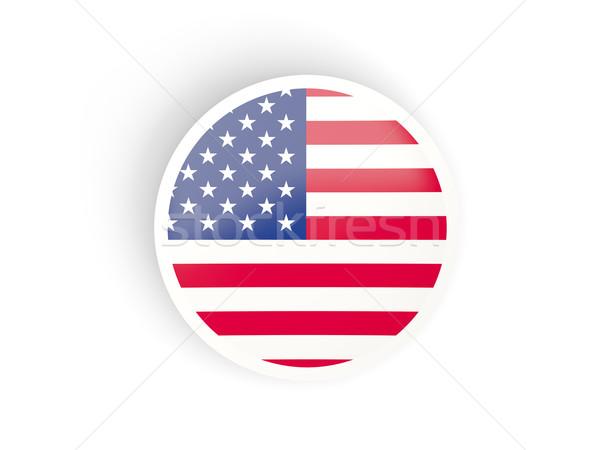 Matrica zászló Egyesült Államok Amerika izolált fehér Stock fotó © MikhailMishchenko