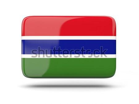 Square icon with flag of gambia Stock photo © MikhailMishchenko