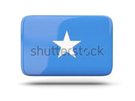 Placu ikona banderą Somali cień podpisania Zdjęcia stock © MikhailMishchenko
