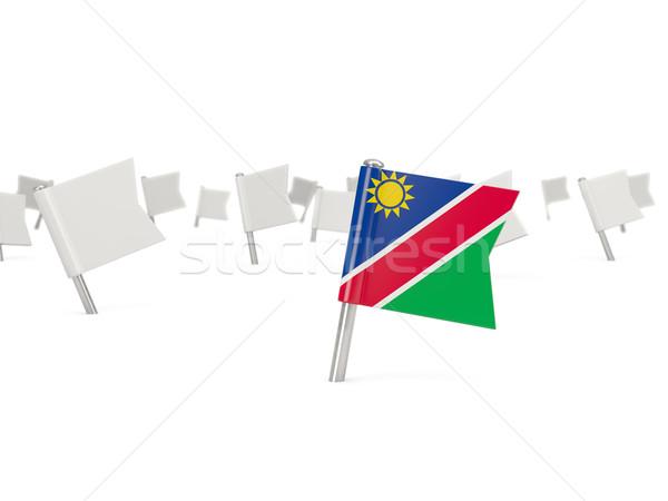 Tér tő zászló Namíbia izolált fehér Stock fotó © MikhailMishchenko