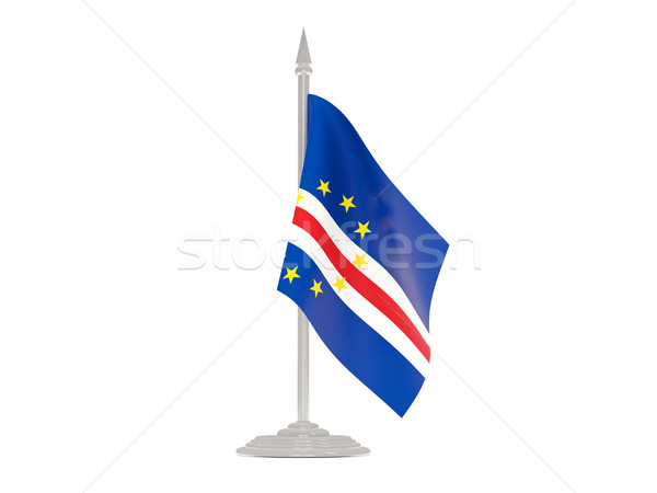 Flag of cape verde with flagpole. 3d render Stock photo © MikhailMishchenko