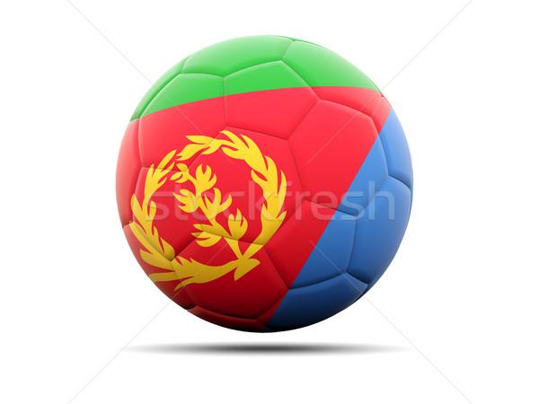 Piłka nożna banderą Erytrea 3d ilustracji piłka nożna sportu Zdjęcia stock © MikhailMishchenko