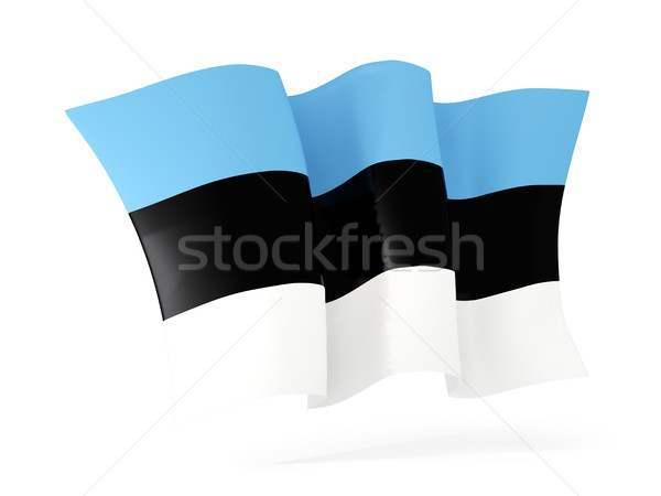 Waving flag of estonia. 3D illustration Stock photo © MikhailMishchenko