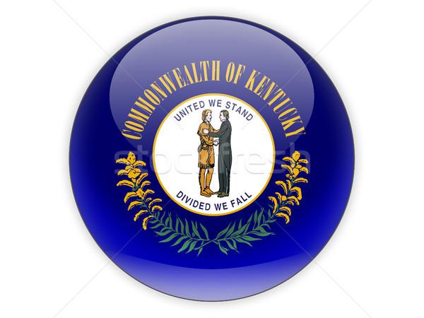 Flag of kentucky, US state icon Stock photo © MikhailMishchenko