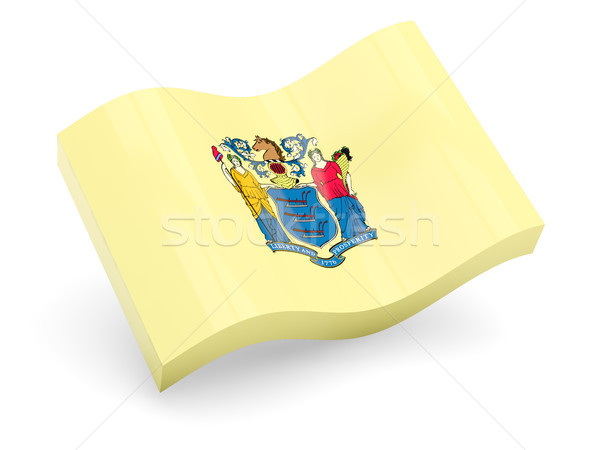Flag of new jersey, US state wave icon Stock photo © MikhailMishchenko
