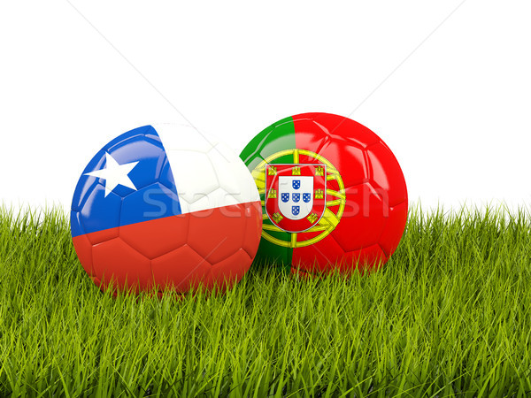 Futebol grama ilustração 3d esportes verde Foto stock © MikhailMishchenko
