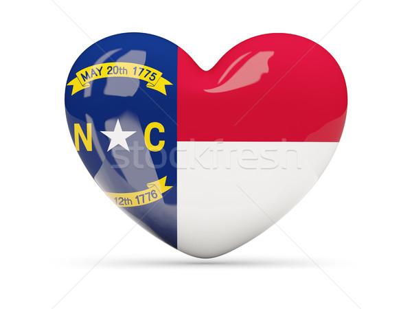Bandeira norte coração ícone isolado branco Foto stock © MikhailMishchenko